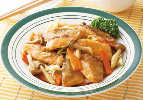 サーモン唐揚げ(味噌マヨ)調理後の写真